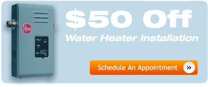Get $50 Off Your Water Heater Installtion